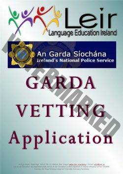 Leir Education - Garda Vetting